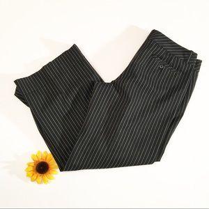 Ann Taylor LOFT black/white pinstripe pants 12 p